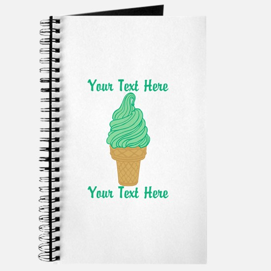 Personalized Mint Ice Cream Journal