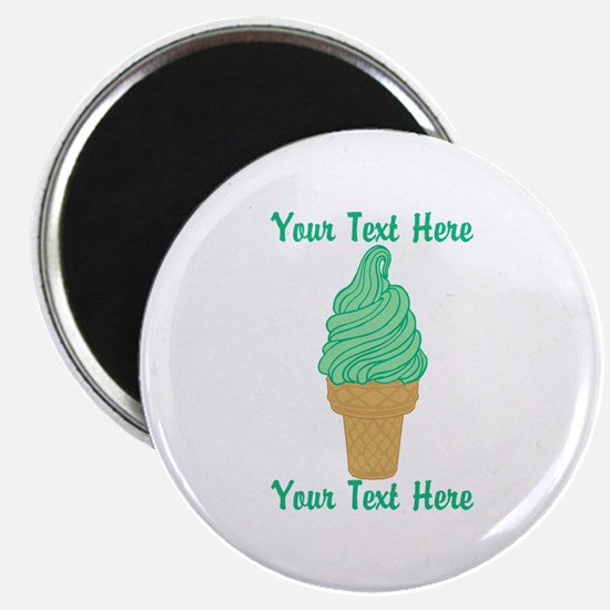 Personalized Mint Ice Cream Magnet