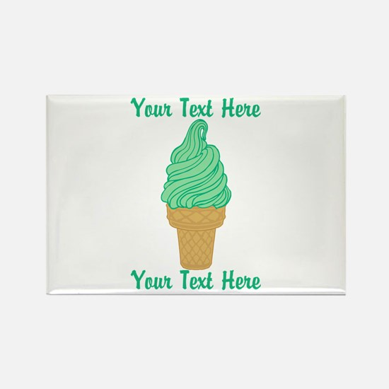 Personalized Mint Ice Cream Rectangle Magnet