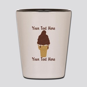 PERSONALIZED Chocolate Dip Ice Cream Co Shot Glass