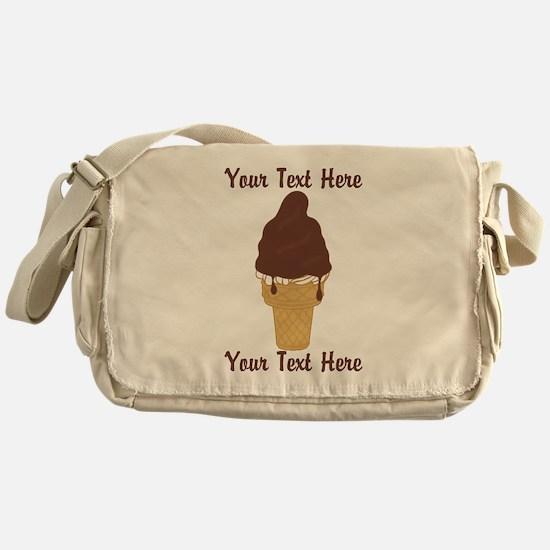 PERSONALIZED Chocolate Dip Ice Cream Messenger Bag