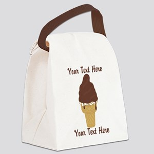 PERSONALIZED Chocolate Dip Ice Cr Canvas Lunch Bag