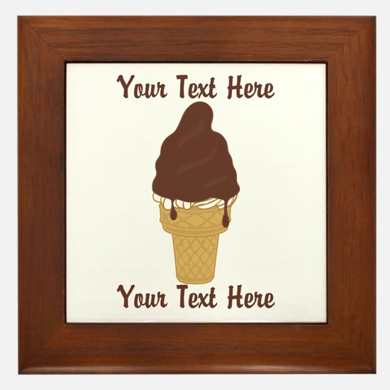 PERSONALIZED Chocolate Dip Ice Cream C Framed Tile