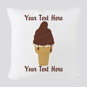 PERSONALIZED Chocolate Dip Ice Woven Throw Pillow
