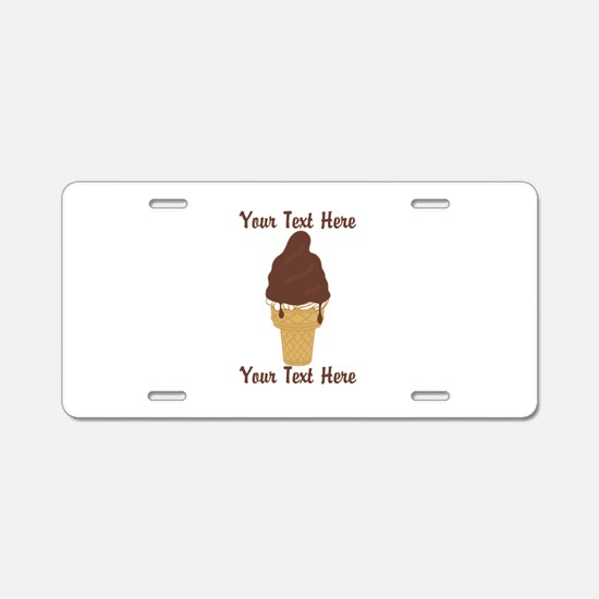 PERSONALIZED Chocolate Dip Aluminum License Plate