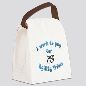 work to pay Canvas Lunch Bag