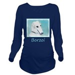 Borzoi Long Sleeve Maternity T-Shirt