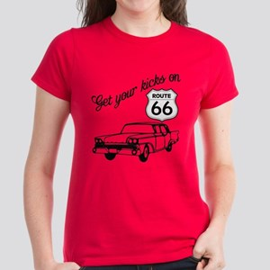 Get your kicks on Route 66 Women's Dark T-Shirt