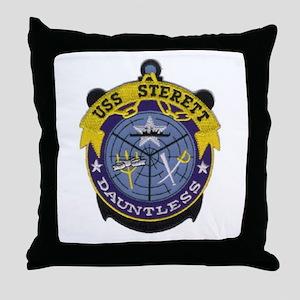 USS Sterett Throw Pillow