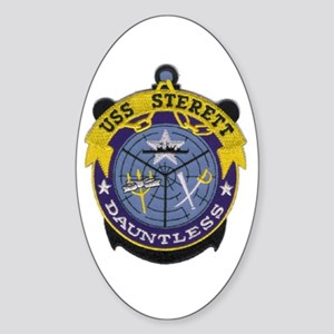 USS Sterett Oval Sticker