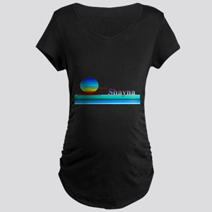 Shayna Maternity Dark T-Shirt