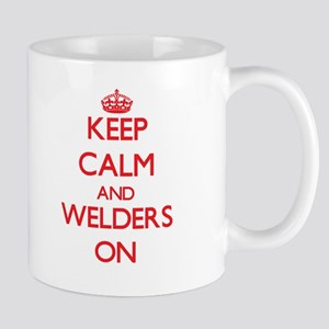 Keep Calm and Welders ON Mugs