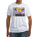 Bush and Cheney Safer World Fitted T-Shirt