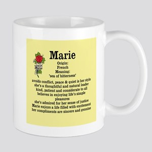 Marie Name Meaning-bkgd design Mugs