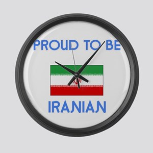 Proud to be Iranian Large Wall Clock