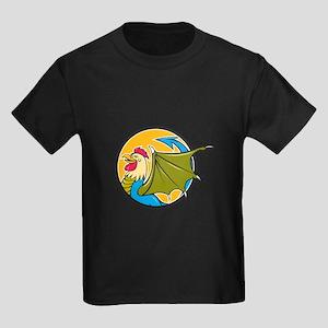 Basilisk Bat Wing Circle Cartoon T-Shirt
