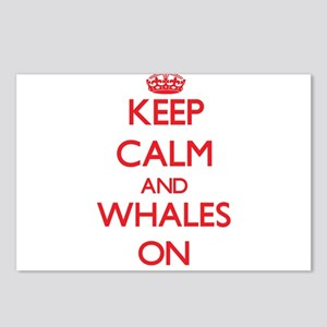Keep Calm and Whales ON Postcards (Package of 8)