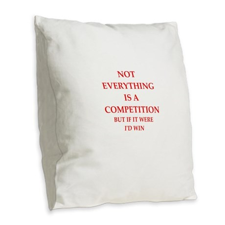 competition Burlap Throw Pillow