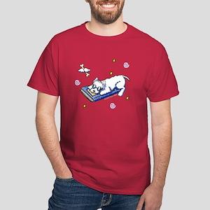 Book Geek Westie Dark T-Shirt