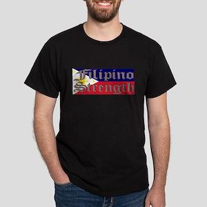Filipino Strength/Flag Dark T-Shirt