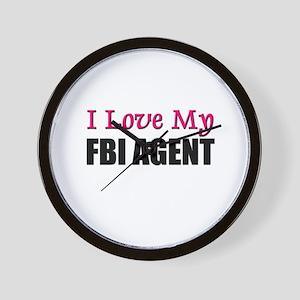 I Love My FBI AGENT Wall Clock
