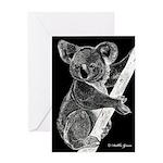 Midnight Koala Greeting Card