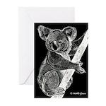 Midnight Koala Greeting Cards (Pk of 10)