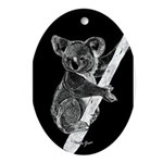 Midnight Koala Oval Ornament