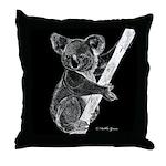 Midnight Koala Throw Pillow