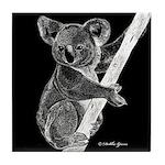Midnight Koala Tile Coaster