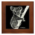 Midnight Koala Framed Tile