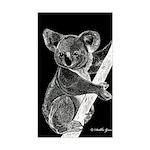 Midnight Koala Rectangle Sticker