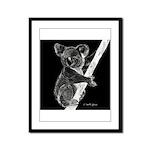 Midnight Koala Framed Panel Print
