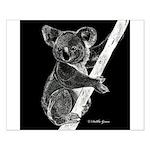 Midnight Koala Small Poster
