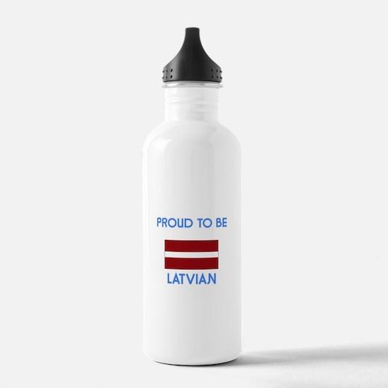 Proud to be Latvian Water Bottle