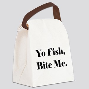 Yo Fish Bite Me Canvas Lunch Bag