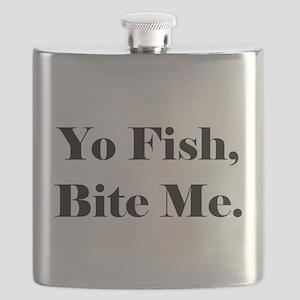 Yo Fish Bite Me Flask