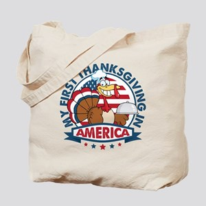 1st Thanksgiving In America Tote Bag