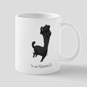 Bouncing Black Alpaca Mug