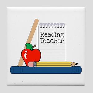 Reading Teacher (Notebook) Tile Coaster