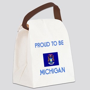 Proud to be Michigan Canvas Lunch Bag