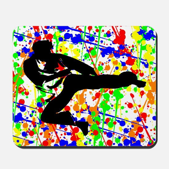 Karate Paint Ball Mousepad