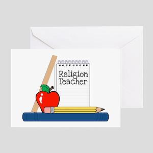 Religion Teacher (Notebook) Greeting Card