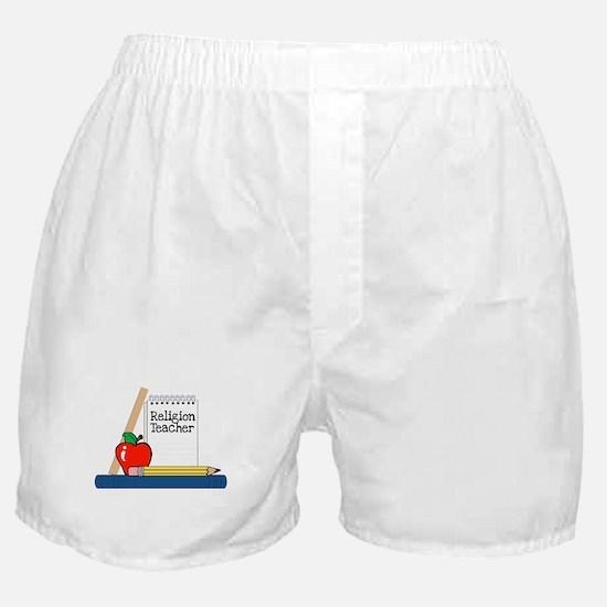 Religion Teacher (Notebook) Boxer Shorts
