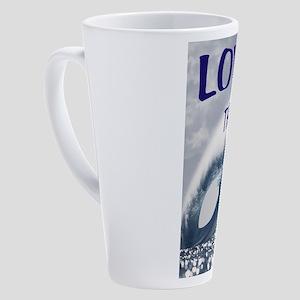 OCEAN LOVE 17 oz Latte Mug
