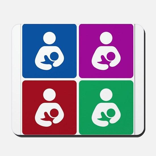 Pop Breastfeeding Icon Mousepad