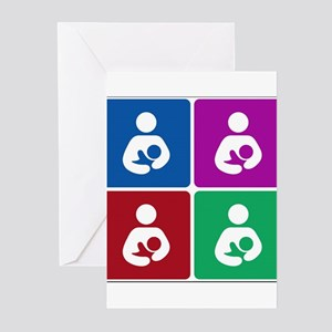 Pop Breastfeeding Icon Greeting Cards (Pk of 20)
