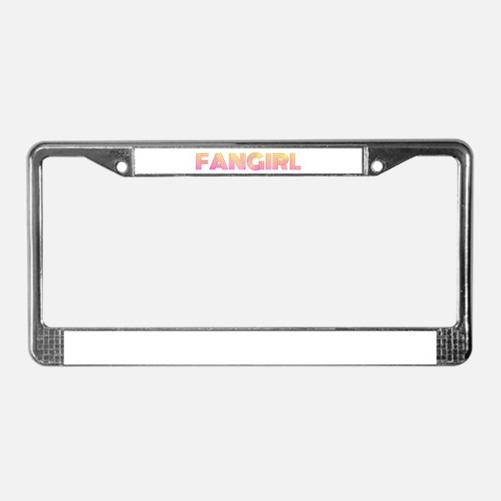 Geeky Fangirl License Plate Frame