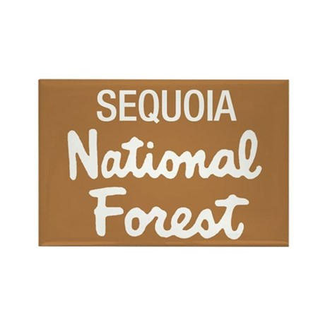 Sequoia National Forest (Sign) Rectangle Magnet