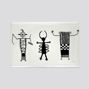 Petroglyph Peoples II Rectangle Magnet